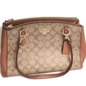COACH three compartment purse